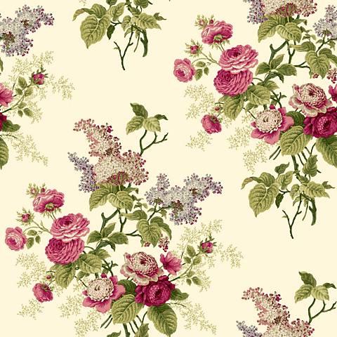 York Sure Strip Magenta Waverly Emma's Garden Wallpaper