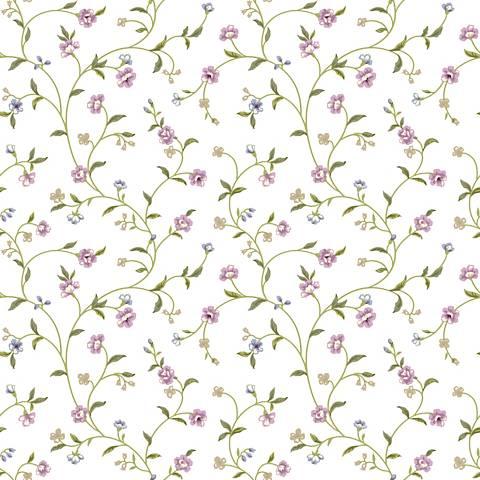 York Sure Strip Purple Waverly Bellisima Vine Wallpaper