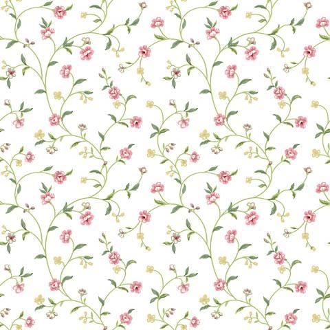 York Sure Strip Light Pink Waverly Bellisima Vine Wallpaper