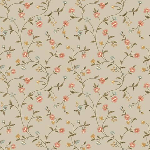York Sure Strip Peach Waverly Bellisima Vine Wallpaper