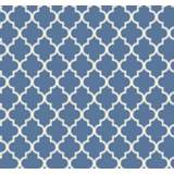 York Sure Strip Azure Blue Waverly Buzzing Around Wallpaper
