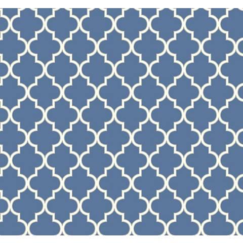 York Sure Strip Azure Blue Waverly Buzzing Around Wallpaper