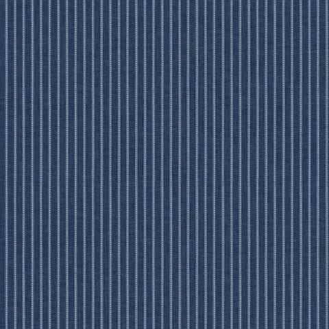 York Sure Strip Ink Blue Waverly Highwire Stripe Wallpaper