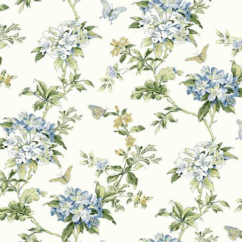 York Sure Strip Blue Waverly Fawn Hill Removable Wallpaper