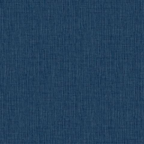 York Sure Strip Ink Blue Waverly Sweet Grass Wallpaper