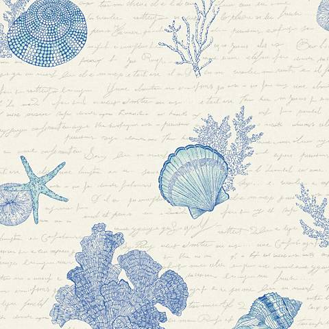 York Sure Strip Blue Oceanic Removable Wallpaper