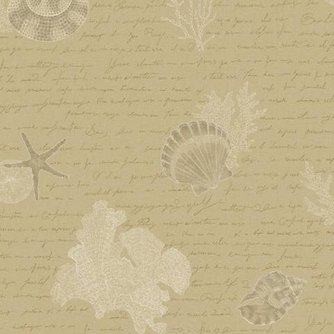 York Sure Strip Tan Oceanic Removable Wallpaper