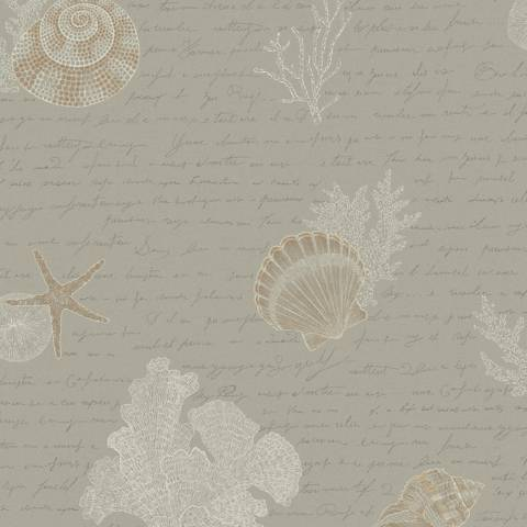 York Sure Strip Gray Oceanic Removable Wallpaper