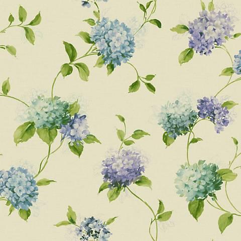 York Sure Strip Violet Hydrangea Trail Removable Wallpaper