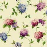 York Sure Strip Pink Hydrangea Trail Removable Wallpaper