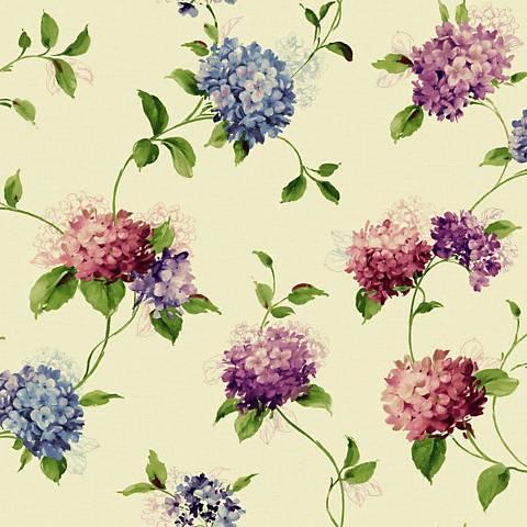 York Sure Strip Pink Hydrangea Trail Removable Wallpaper