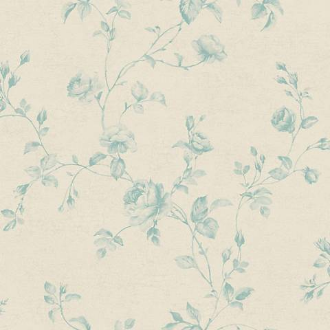 York Sure Strip Silver Rose Toile Removable Wallpaper