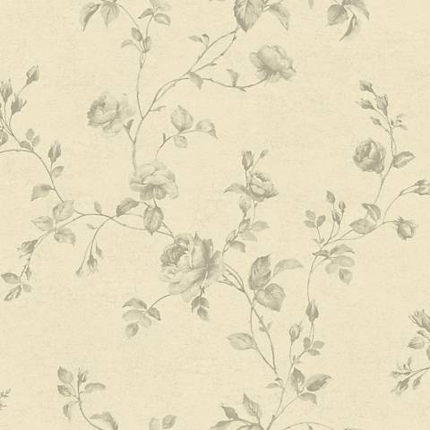 York Sure Strip Taupe Rose Toile Removable Wallpaper