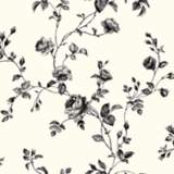 York Sure Strip Black Rose Toile Removable Wallpaper