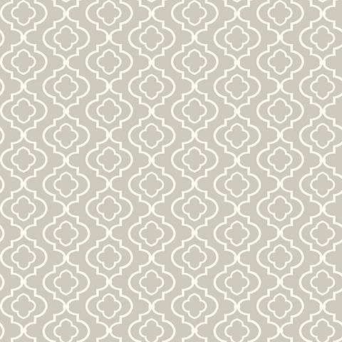 York Sure Strip Gray Small Trellis Removable Wallpaper