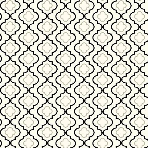 York Sure Strip Silver Small Trellis Removable Wallpaper