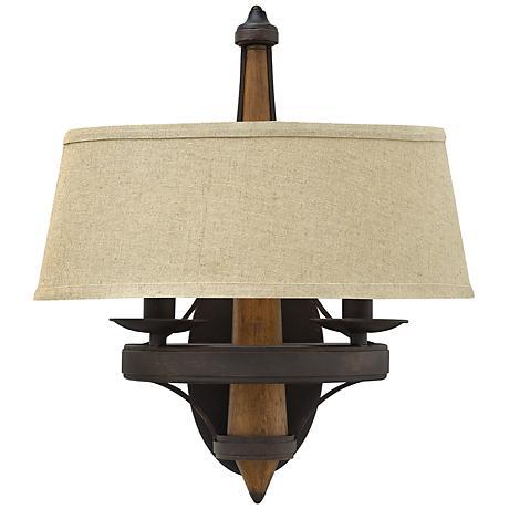 bastille 16 1 4 high vintage bronze wall sconce 6f171 lamps plus. Black Bedroom Furniture Sets. Home Design Ideas