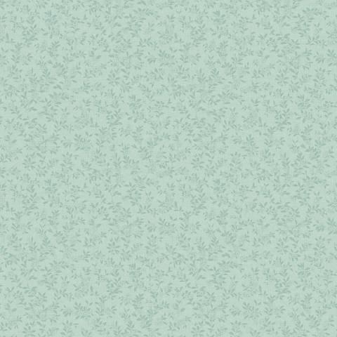 York Sure Strip Pale Aqua Miniature Floral Vine Wallpaper