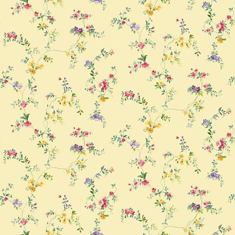 York Sure Strip Yellow Document Vine Removable Wallpaper