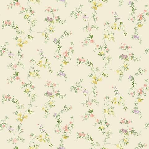 York Sure Strip Pale Pink Document Vine Removable Wallpaper