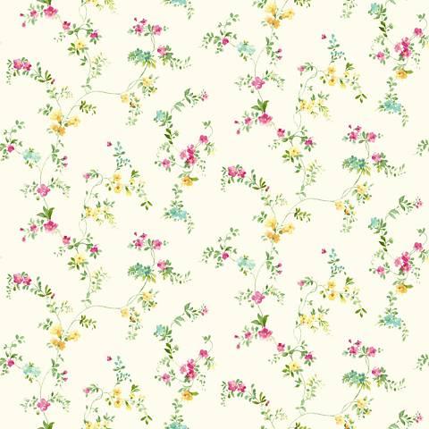 York Sure Strip Pink Document Vine Removable Wallpaper