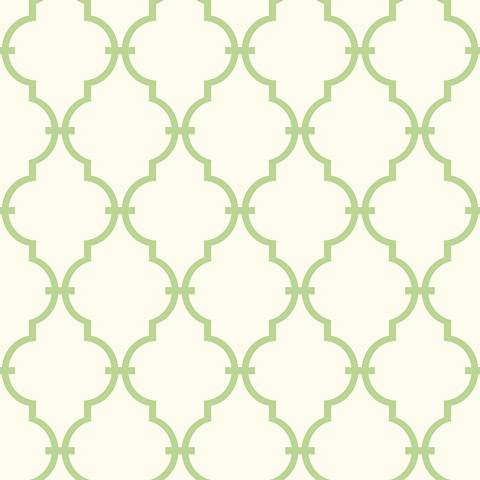 York Sure Strip Green Modern Trellis Removable Wallpaper