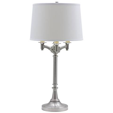House of Troy Lancaster 4-Light Satin Nickel Table Lamp