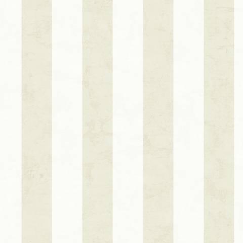 York Sure Strip Cream Wide Stripe Removable Wallpaper