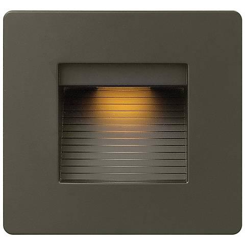 """Hinkley Luna 4 1/2"""" Square Bronze LED Step Light"""