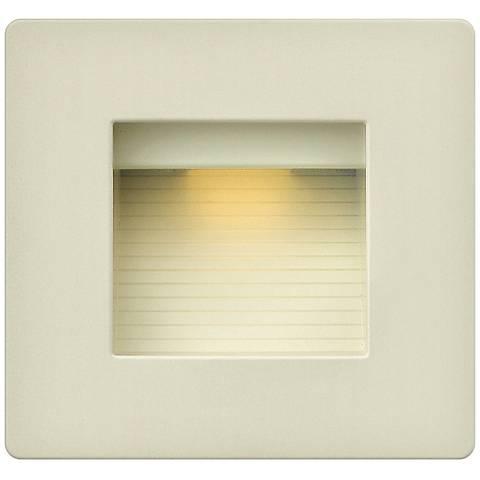 "Hinkley Luna 4 1/2"" Square Light Almond LED Step Light"
