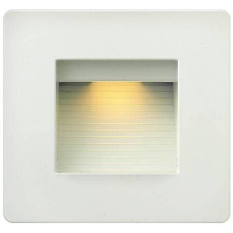 "Hinkley Luna 4 1/2"" Square Satin White LED Step Light"