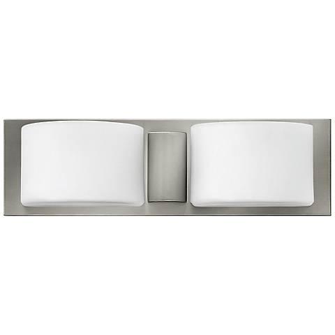 """Hinkley Daria 16 3/4"""" Wide Brushed Nickel Bath Light"""