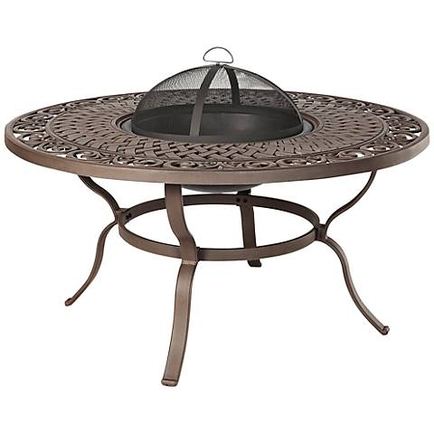Real Flame Florence Wood-Burning Outdoor Fire Pit Table