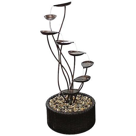 "Oakley Metal Tiering Leaf 45"" High Fountain"