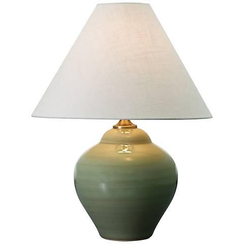 "House of Troy Scatchard Stoneware 22"" High Celadon Lamp"