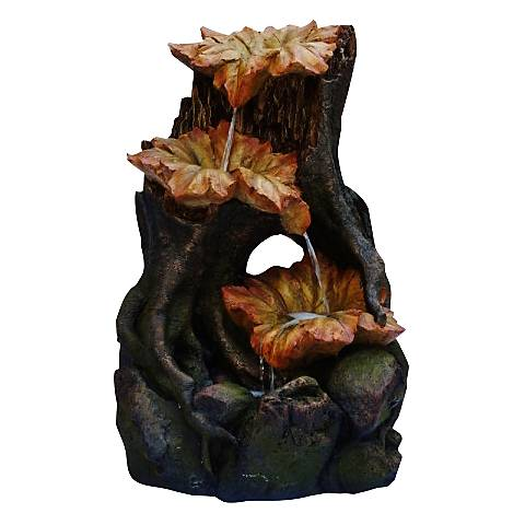 """Bissell Three Leaf Tier Rainforest 35"""" High Fountain"""