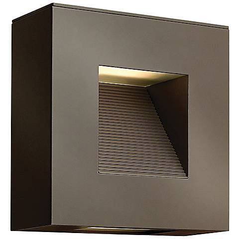 "Hinkley Luna 9"" Square Bronze LED Outdoor Wall Light"