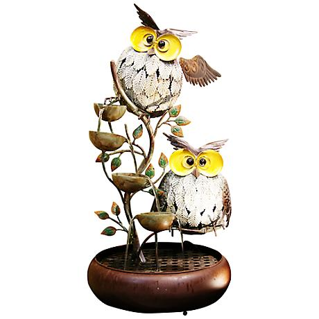 "Silva Owl Tiering 31"" High Fountain"