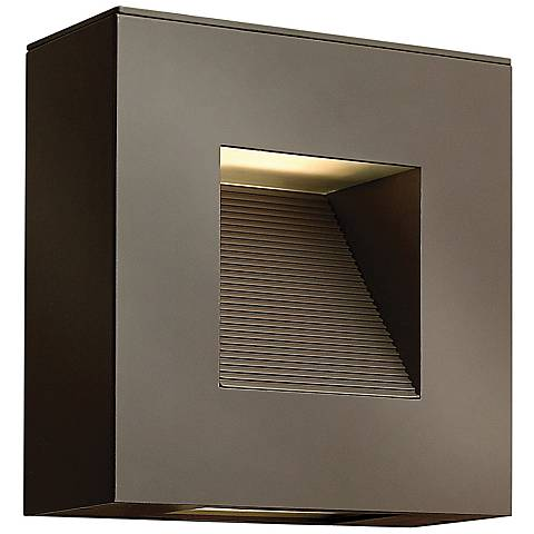 "Hinkley Luna 9"" Square Satin Black LED Outdoor Wall Light"