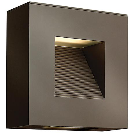 "Hinkley Luna 9"" Square Satin Black LED Outdoor Wall Light"