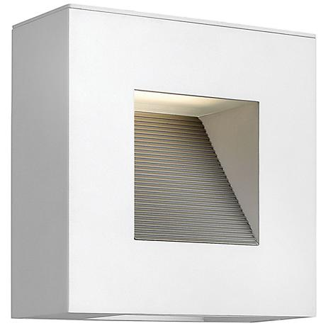 """Hinkley Luna 9"""" Square Satin White LED Outdoor Wall Light"""