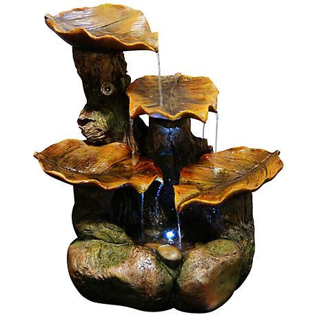 Bucklin Polyresin Leaf Fountain