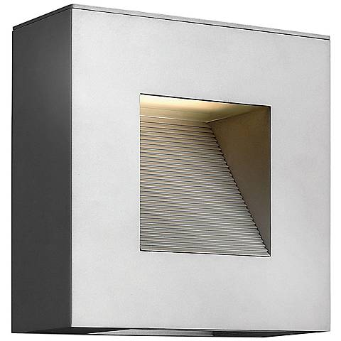 "Hinkley Luna 9"" Square Titanium LED Outdoor Wall Light"
