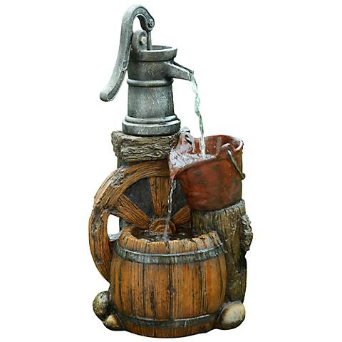 "Kingsdowne Old Fashioned Pump Barrel 24"" High Fountain"