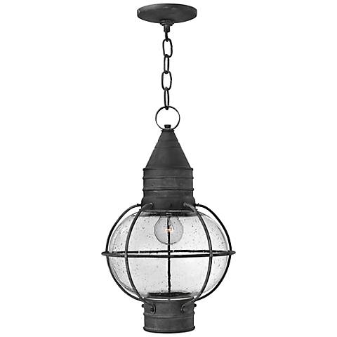 "Hinkley Cape Cod 11"" Wide Aged Zinc Outdoor Hanging Light"