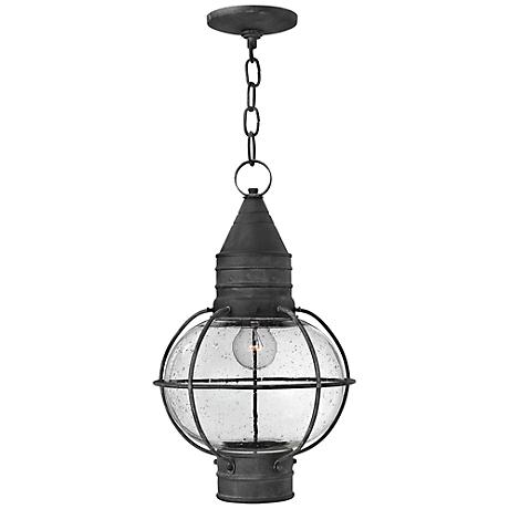 """Hinkley Cape Cod 11"""" Wide Aged Zinc Outdoor Hanging Light"""
