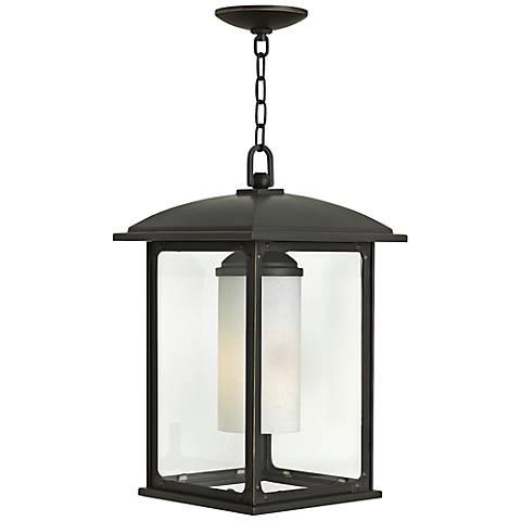 """Stanton 11"""" Wide Oil Rubbed Bronze Outdoor Hanging Light"""