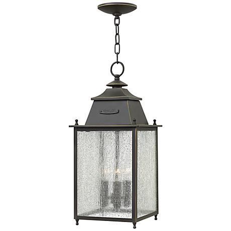 """Chatfield 9"""" Wide Oil Rubbed Bronze Outdoor Hanging Light"""