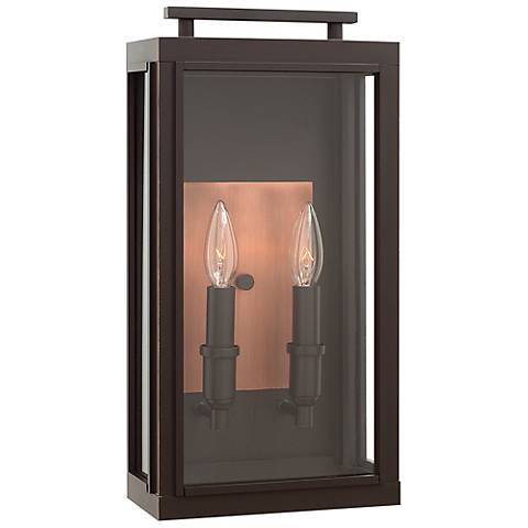 "Sutcliffe 17"" High Oil Rubbed Bronze Outdoor Wall Light"