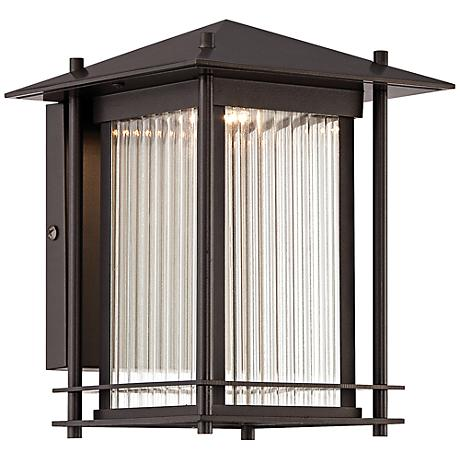 """Hadley 11 1/2"""" High Burnished Bronze LED Outdoor Wall Light"""